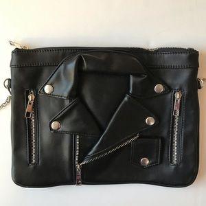 Leather Moto Jacket Crossbody Bag